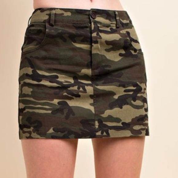 Wild Honey Dresses & Skirts - Camo Mini Skirt